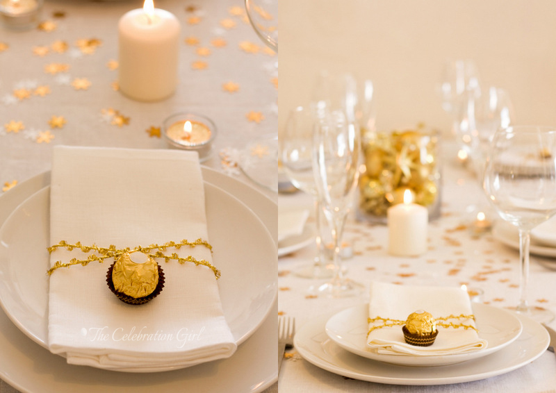 Day 14: A Simple Christmas table setting in White and Gold ...