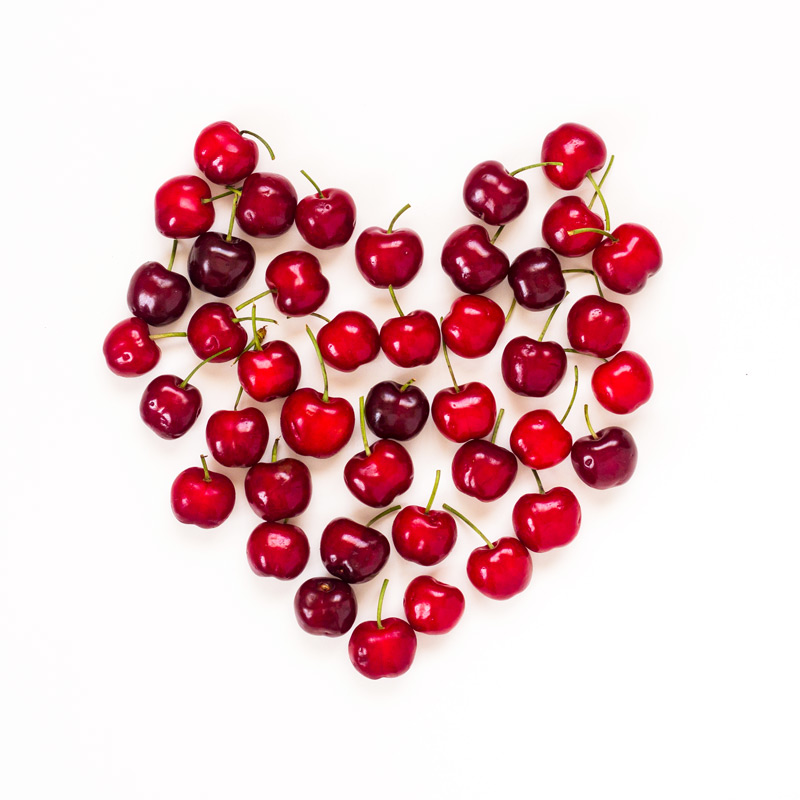 Cherry heart by Marcela Macias Photography, Food Photography, Cyprus