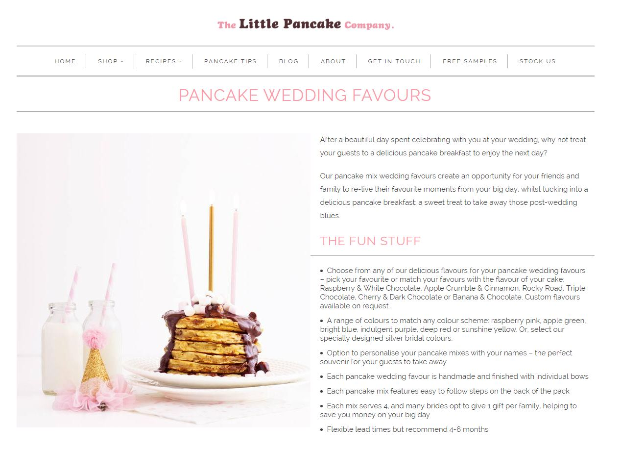 pancake wedding favors - Marcela Macias Photography