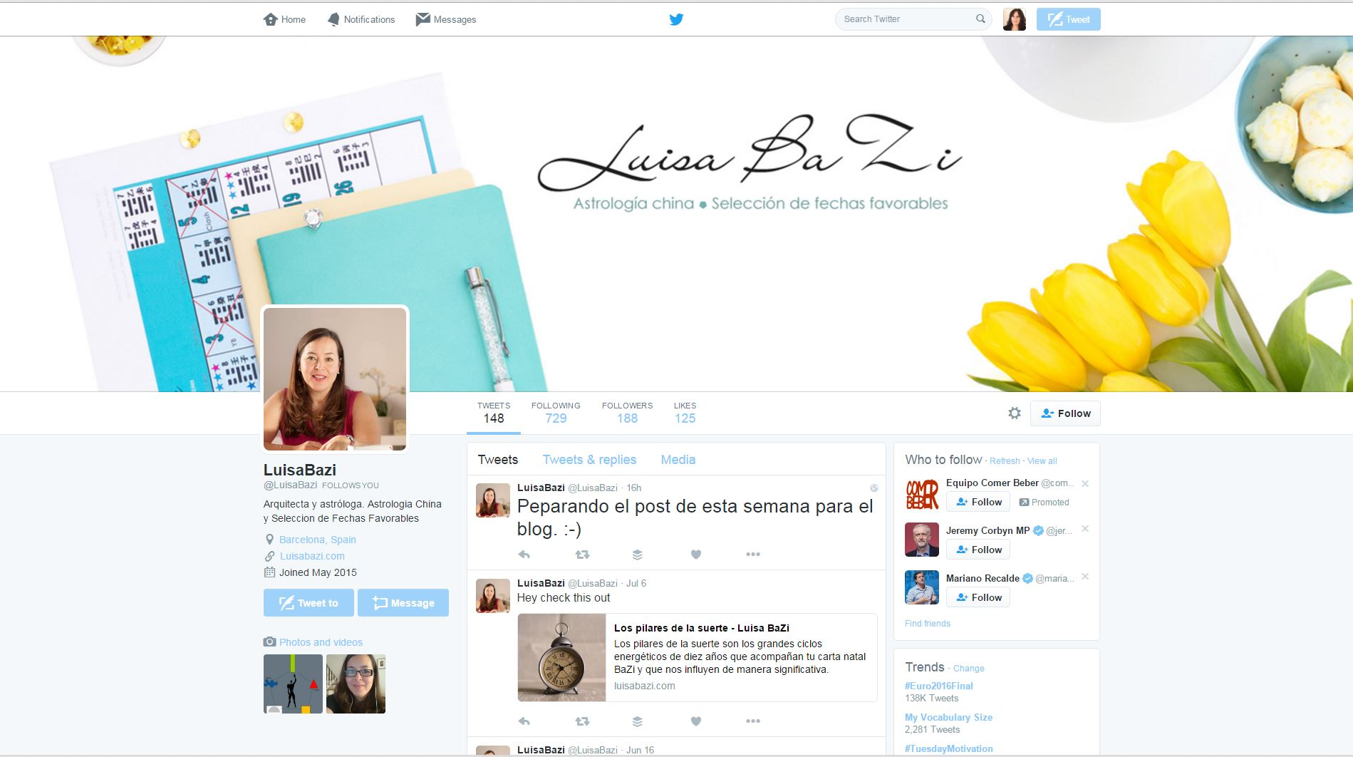 Luisa Bazi Twitter