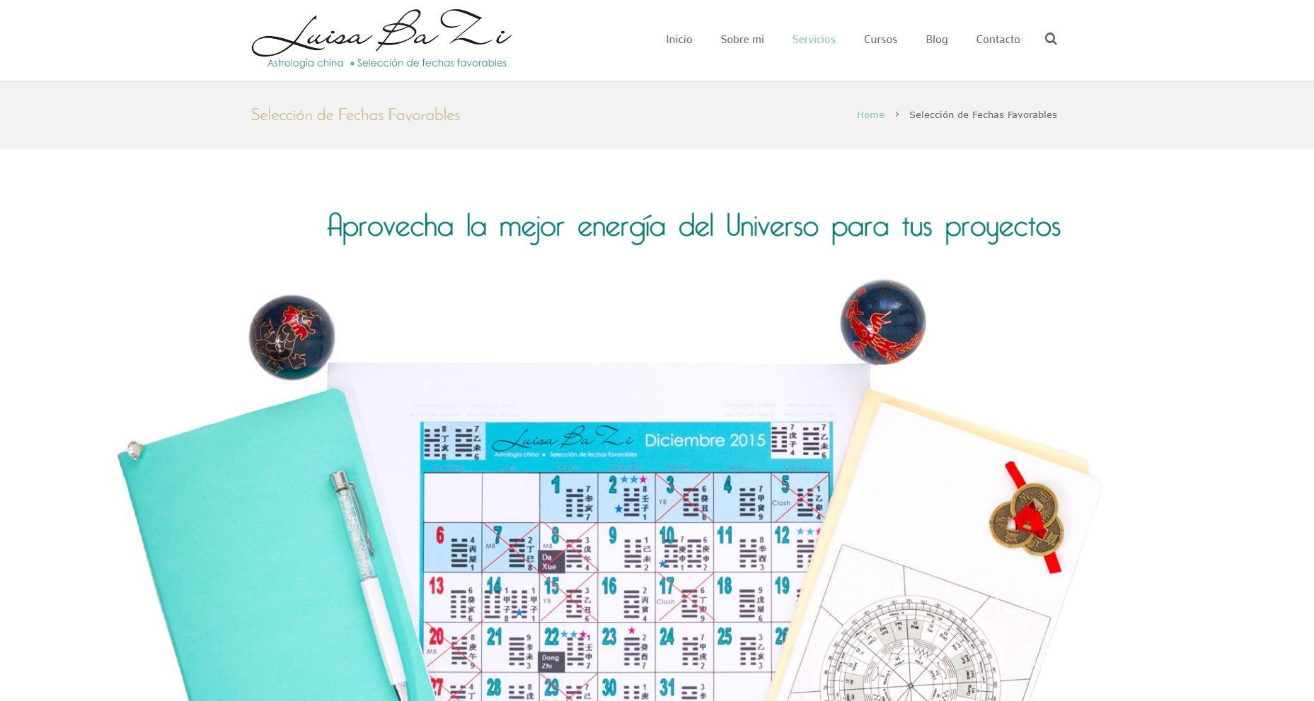 Luisa Website fechas